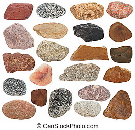 Big Collection Rocks isolated