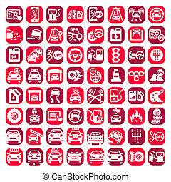 big color auto icons set