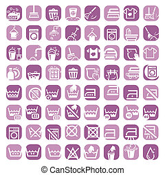 big color cleaning icons - 64 Colorful Clearning Icons Set...