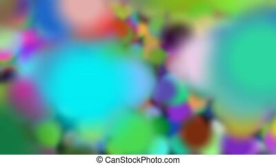 Big Colored Bubbles Background Transition