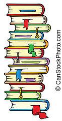 Big column of books