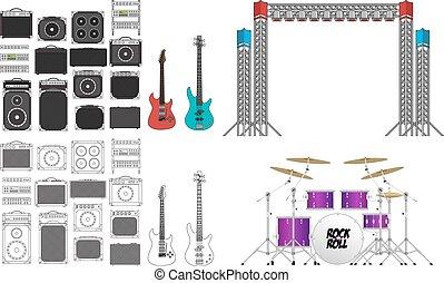 Big Concert and Festival Stage Set