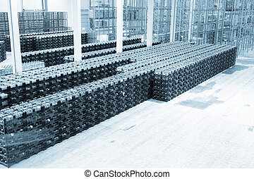 Big constitution for storage of finished goods at a factory on manufacture of mineral water