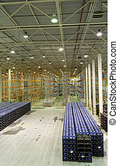 Big constitution for storage of finished goods at a factory...