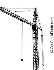 Big construction cranes