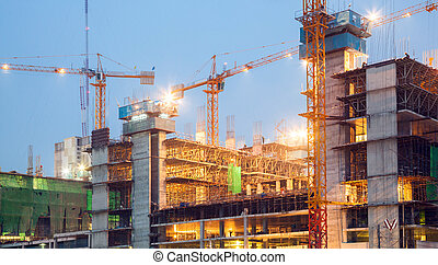 Big Construction Site Working
