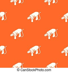 Big corded drill pattern vector orange