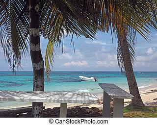 Big Corn Island, Nicaragua fishing boat  Caribbean Sea Sally Peachie beach
