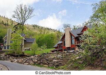 Big cottages on the hills