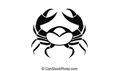 Big crab icon animation of best object isolated on white background for any design