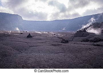Big crater in Volcanoes national Park, Big Island of Hawaii