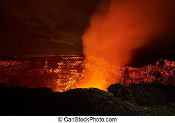 big crater of volcano