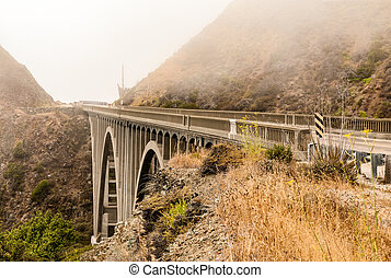 Big Creek Bridge on Pacific Coast Highway 1