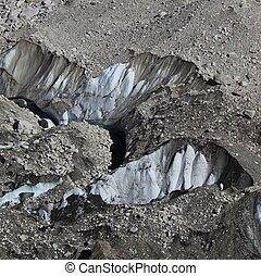 Big crevasses in the Khumbu glacier