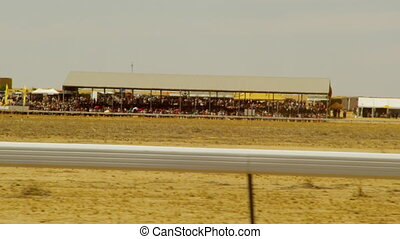 Big crowd in a horse race