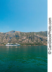 Big cruise ship in the Bay of Kotor in Montenegro. View it...