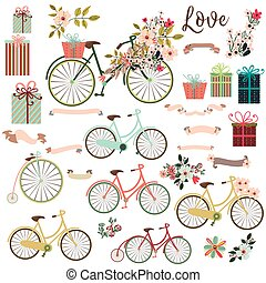 Big cute collection of save the date elements or valentine...