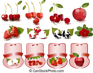 big, dát, o, prostořeký višně, a, ovoce