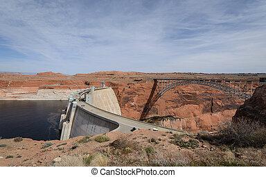 Big dam brige at Lake Powell, Arizona