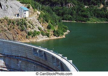 Big dam in western Romania