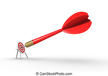 Big dart Hitting Target