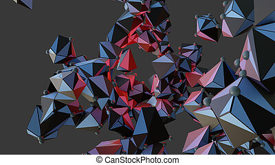 Big Data Abstract Background. 3d Illustration