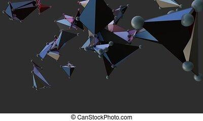 Big Data Abstract Background. Plexus effect. Network...
