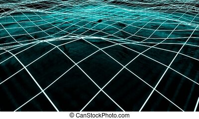 Big data and information flowing through cyberspace. 4K