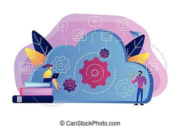 Big data architecture concept vector illustration.