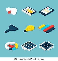 Big Data Business Isometric Objects