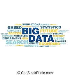 Big data concept in word tag cloud