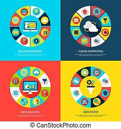 Big Data Concepts. Vector Illustration of Database...