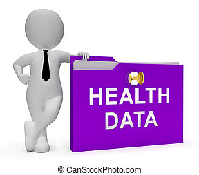 Big Data Health Medical Database 3d Rendering