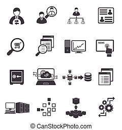 Big Data icon set, Business Finance