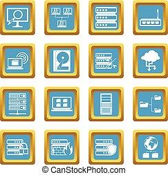 Big data icons azure