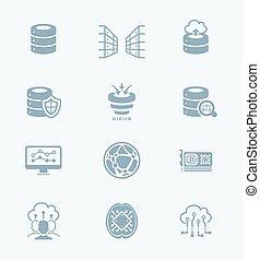 Big data icons || TECH series