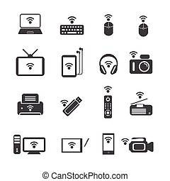 Big Data icons. Wireless technology