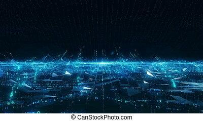 Big Data internet mobile blue digital concept 4k uhd