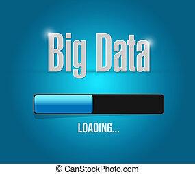Big data loading update bar sign concept illustration design...