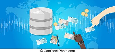big data monetization selling database pay with money for storage world online block chain