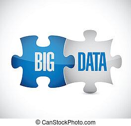 big data puzzle illustration design