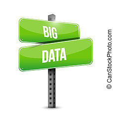 Big data road sign concept illustration