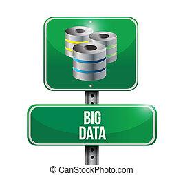 big data servers sign illustration design