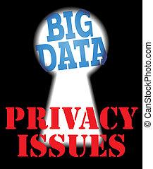 big, data, soukromí, bezpečí, ono, vytékat