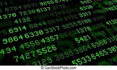 Big data stream computer green