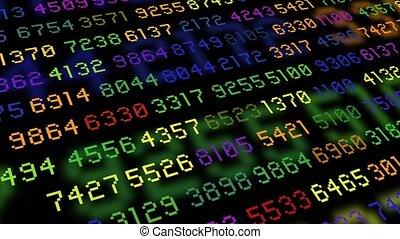 Big data stream computer rainbow color