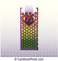 Big data systematization algorithms. Infographics Design....