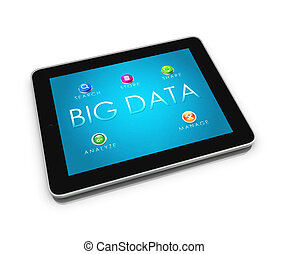 BIG DATA Tablet 2 - 3d render of mobile devices - tablet....
