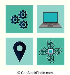 Big data technology icons