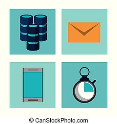 Big data technology icons